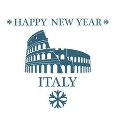 Greeting Card Italy vector image