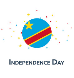 Independence day of democratic republic of the vector