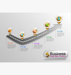 Infographic business roadmap timeline ver02 vector