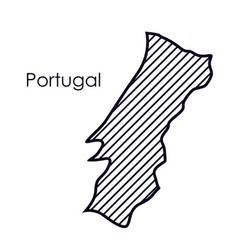 Isolated portugal map design vector