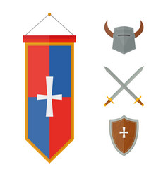 knights symbols medieval weapons heraldic vector image