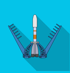 Launch of the spaceship space technology single vector