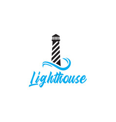 Lighthouse logo design template isolated vector