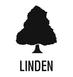linden tree icon simple black style vector image