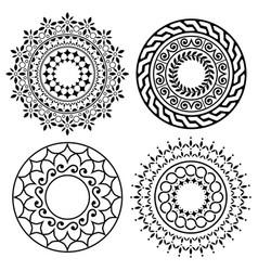Mandala boho pattern collection bohemian vector
