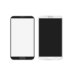 Mobile phone white mockup vector