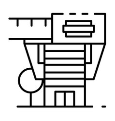 Modern architectural house icon outline style vector