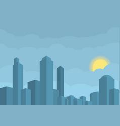Modern city sun hidden in vector
