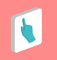 mouse hand computer symbol vector image