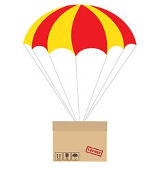 Package with parachute vector image