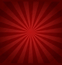 red color burst background or sun rays vector image