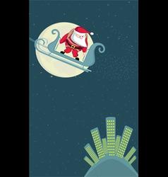 santa in sleigh vector image