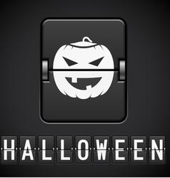 Scoreboard Halloween sign of the designer vector image