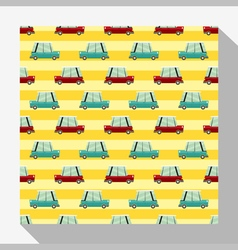 Seamless pattern collection with car 5 vector image