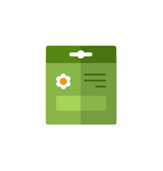 seed bag flat color icon gardening vector image