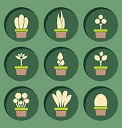 Set Of Pot Plants Symbol vector