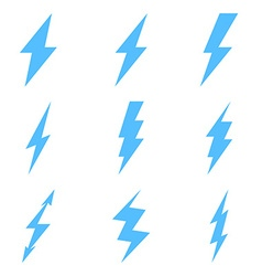 Set of Thunder Lighting Icons vector image
