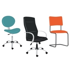 set office chairs vector image