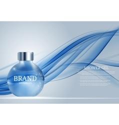 Shower Gel Bottle Template for Ads or Magazine vector image