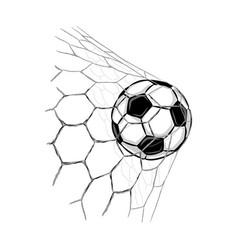soccer ball goal vector image