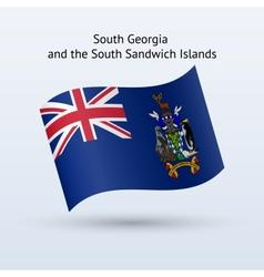 South Georgia and Sandwich Islands flag waving vector