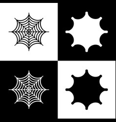 spider on web black and vector image