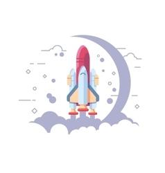 Startup space rocket vector