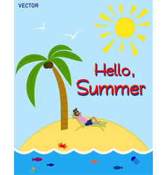 summer time its time to rest vector image