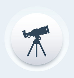 telescope icon space observation astronomy vector image vector image