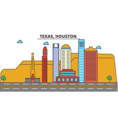 texas houstoncity skyline architecture vector image