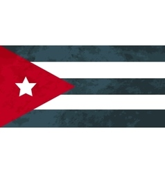 True proportions Cuba flag with texture vector image