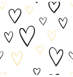 two color simple heart seamless pattern vector image