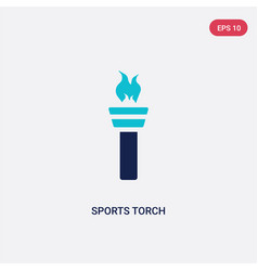 two color sports torch icon from greece concept vector image