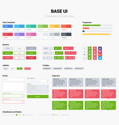 Ui kit web template elements easy change vector