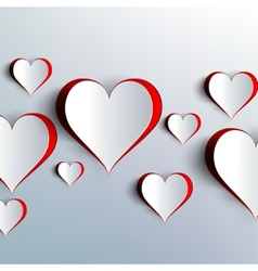 Valentines day Abstract paper hearts Love vector image