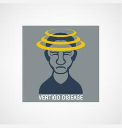 vertigo disease logo icon design vector image