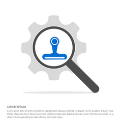 web cam icon search glass with gear symbol icon vector image