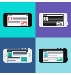 Web Template of Smartphone Site or Article Form vector image
