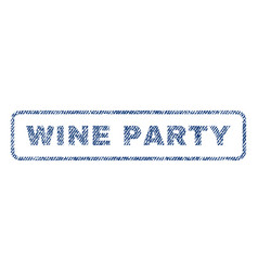 wine party textile stamp vector image