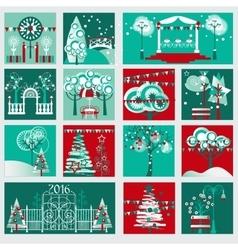 Winter Gardening and Landscape Decoration Set vector image