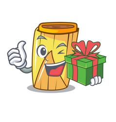 With gift traditional mexican food dishes tamales vector