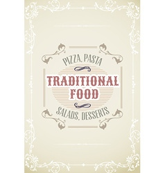 With label and ornaments vector