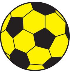 Yellow Soccer Ball vector image