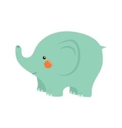 Elephant Stylized Childish vector image vector image