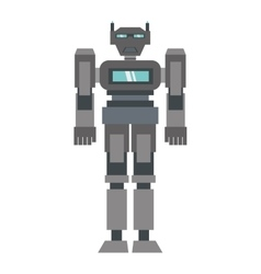 robot machine science technology vector image