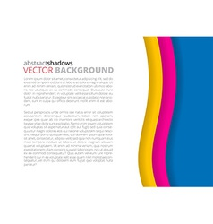 White and rainbow elegant business background vector image vector image