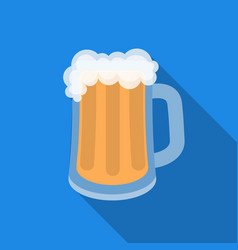 beer mug icon in flat style isolated on white vector image