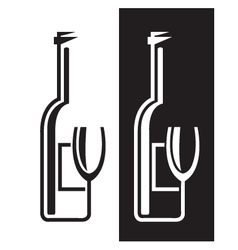 bottles and glasses vector image