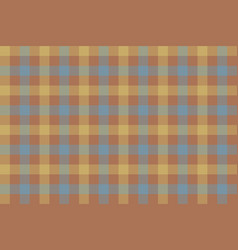 brown beige blue check fabric texture background vector image vector image