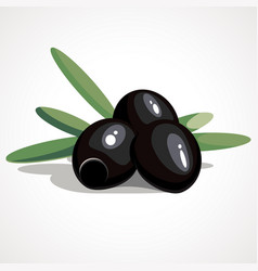 cartoon of black olives vector image